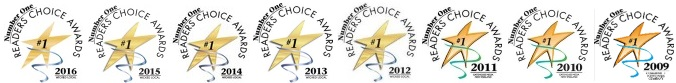 8 Year Readers' Choice Ward Winner